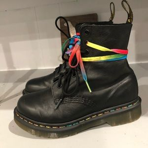 Dr Martens 1460 Pascal Rainbow 🌈 stitching boots